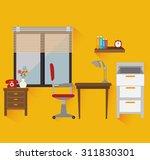 work office design  vector... | Shutterstock .eps vector #311830301