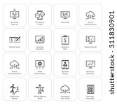 business   money icons set.... | Shutterstock . vector #311830901
