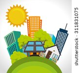 green energy design  vector... | Shutterstock .eps vector #311831075