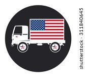 truck and american flag. icon... | Shutterstock .eps vector #311840645