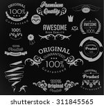 set of calligraphic elements... | Shutterstock .eps vector #311845565