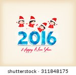 happy new year 201 5 with kids... | Shutterstock . vector #311848175