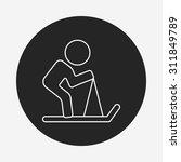 skiing line icon | Shutterstock .eps vector #311849789