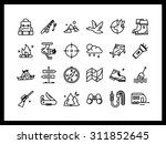 vector icon set in a modern... | Shutterstock .eps vector #311852645