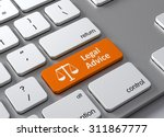 a keyboard with a orange button ... | Shutterstock . vector #311867777