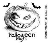 halloween poster. image of a... | Shutterstock .eps vector #311868401
