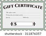 gift certificate template.... | Shutterstock .eps vector #311876357