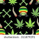 jamaica drugs seamless pattern. ... | Shutterstock .eps vector #311879291