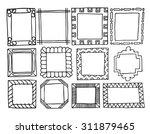 set of vintage frames hand... | Shutterstock .eps vector #311879465