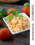 spanish or mexican rice... | Shutterstock . vector #311880401
