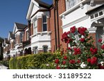 English Homes With Roses. Row...