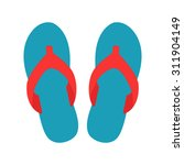 blue beach slippers icon  ... | Shutterstock .eps vector #311904149