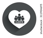 love clients sign icon. group...