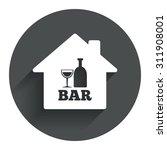 bar or pub sign icon. wine...