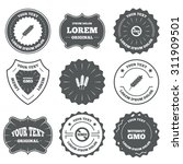 vintage emblems  labels.... | Shutterstock .eps vector #311909501
