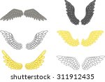 angel wing set for your design  | Shutterstock .eps vector #311912435
