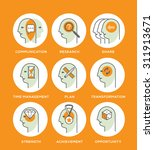line icon set representing... | Shutterstock .eps vector #311913671