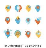 flat icon set  representing... | Shutterstock .eps vector #311914451