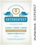 oktoberfest beer festival... | Shutterstock .eps vector #311914517