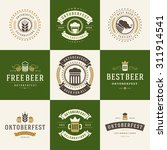 retro style labels  badges and... | Shutterstock .eps vector #311914541