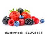 big pile of fresh berries... | Shutterstock . vector #311925695