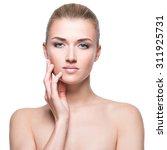 beautiful young blonde woman... | Shutterstock . vector #311925731