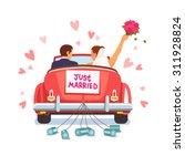 Newlywed Couple Is Driving A...