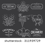 vector ice cream badges and... | Shutterstock .eps vector #311939729