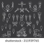 vector ice cream bundle with... | Shutterstock .eps vector #311939765