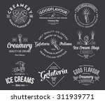 vector ice cream badges and... | Shutterstock .eps vector #311939771