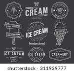 vector ice cream badges and... | Shutterstock .eps vector #311939777