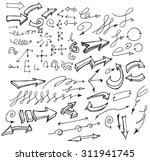vector hand drawn arrows set... | Shutterstock .eps vector #311941745