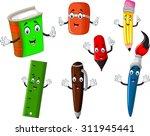 school stationery tool cartoon...   Shutterstock .eps vector #311945441