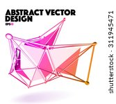 low poly abstract vector design ... | Shutterstock .eps vector #311945471