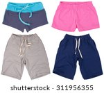 set of male and female shorts.... | Shutterstock . vector #311956355