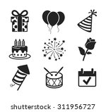 celebration and party icons set ... | Shutterstock .eps vector #311956727