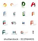 set of new universal company... | Shutterstock .eps vector #311964431