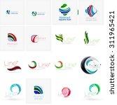 set of abstract wavy elements.... | Shutterstock . vector #311965421