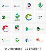 set of abstract wavy elements.... | Shutterstock . vector #311965547