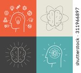 vector set of education and... | Shutterstock .eps vector #311966897