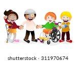 illustration of a various kid... | Shutterstock . vector #311970674