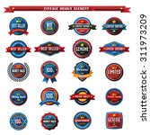 set of retro vintage badges and ... | Shutterstock .eps vector #311973209