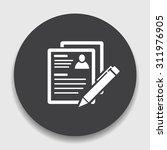 resume icon | Shutterstock .eps vector #311976905