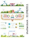 flat infographic gasoline... | Shutterstock .eps vector #311982011