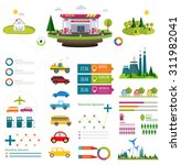 flat infographic gasoline... | Shutterstock .eps vector #311982041