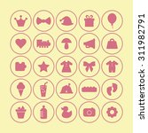 a vector graphic icon set for... | Shutterstock .eps vector #311982791