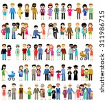 big set of family life in style ... | Shutterstock .eps vector #311986715