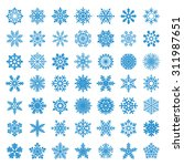 set of vector snowflakes | Shutterstock . vector #311987651
