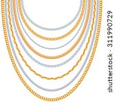 Gold Chains Vector Background....