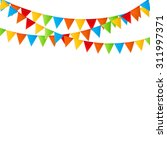 party background with flags... | Shutterstock .eps vector #311997371